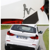 2PCS Car 3D Sticker Auto Emblem Badge Hot Girl Logo Stainless Steel Car Decal Exterior Decoration