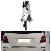 New Car 3D Sticker Auto Emblem Badge Cool Girl Logo Stainless Steel Car Decal Exterior Decoration