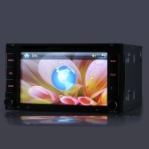 "6.2"" 2 Din Car DVD/USB/SD Player GPS Navigation Bluetooth Radio Multimedia HD Entertainment System for Car Universal"