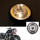 "7"" Halo Motorcycle Headlight LED Turn Signal with H4 Bulb for Harley"