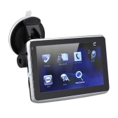 "5"" HD Touch Screen Portable Car GPS Navigation 128MB RAM 4GB FM Video Play Car Navigator with Back Support +Free Map"