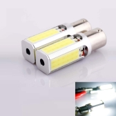 2 x 1156 BA15S 24W High Power Auto Vehicle COB LED Light Bulbs Turn Signal Backup Reverse