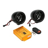 Motorcycle MP3 Player Speakers Audio Sound System FM Radio Security Alarm Wireless Remote with USB SD Slot