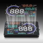 "5.5"" Large Screen Auto Car HUD Head Up Display KM/h & MPH Speeding Warning Windshield Project System with OBDII Interface Plug & Play"