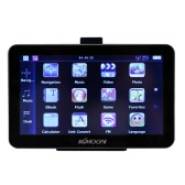 "KKmoon 7"" Portable HD Screen GPS Navigator 128MB RAM 4GB ROM MP3 FM Video Play Bluetooth Car Entertainment System with Back Support +Free Map"
