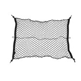 100 * 70cm Car Trunk Interior Mesh Net Storage Bag Luggage Holder  with 4 Hooks