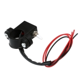Motorcycle Dual Double Flash Warning Light Switch 2.2cm 2.5cm Diameter Handlebar DIY ON-OFF Switch Accessory for Motorbike Scooter ATV