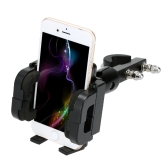 Adjustable Motorcycle Phone Holder Shock Resistant Motorbike/Bike/Scooter/ATV Stand Mount Bracket for Mobile Phone Interphone GPS PDA for iPhone for Samsung