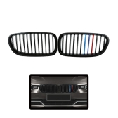 One Pair of Gloss Black M-color Car Grilles for BMW F10/F18 4 Door 10-14