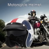Motorcycle Helmet with Goggles Visor Cycling Riding Protect Helmet Unisex L