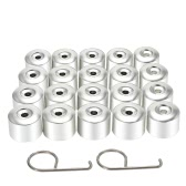 One Set of 20Pcs Car Wheel Nut Cups Bolt Cover for VW Golf Passat