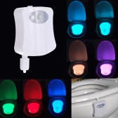 8 Colors LED Toilet Nightlight Motion Activated Light Sensitive Dusk to Dawn Battery-operated Lamp