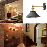 Lixada Vintage Adjustable Head Wall Sconces Rustic Country Wall Lamps Retro Metal Mounted Wall Bedroom Stair Mirror Lamps E27
