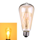 Tomshine 4W ST64 LED Filament Bulb Light AC220-240V E27 Base Edison Style Tawny Antique Vintage Retro Holiday Festival Decorations Warm White