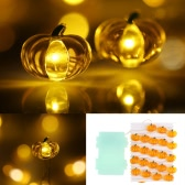 Halloween Pumpkin String Light 40 LEDs 3m/10ft Battery-operated Fairy Lamp for Indoor Outdoor Halloween Decoration
