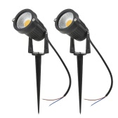 Tomshine 5W 2 Pack COB LED Lawn Lamp AC/DC 12V Outdoor Decorative Landscape light 500LM Super Bright High Power Spotlight for Garden Wall Yard Path Warm White