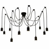Lixada 9 Arms E27 Ceiling Spider Pendant Lamp Light Antique Classic Adjustable DIY Retro Chandelier Dining Hall Bedroom Home Lighting Fixture