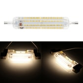 R7S 228 LEDs 12W 118mm 1200LM SMD3014 AC220-240V Bulb Light Silica Gel Shell Corn Lamp Floodlight Non-dimmable 360 degree Illumination High Brightness White