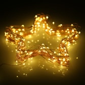 12M 100 LEDs Solar Powered Light Sensor Copper String Lamp Xmas Christmas Decoration for Party Wedding Garden Home Decor