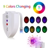 Tomshine RGB 8 Colors 2 Modes LED IP65 Flexible Toilet Seat Night Lamp Photosensitive Sensor Motion Activated UV Germicidal Sterilization Eliminating Mold Germs Bacteria Allergy Bathroom Bowl Light with Screwdriver