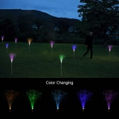 2Pcs Outdoor Novelty Creative Solar Powered Optical Fiber Light Color Changing LED Lawn Night Decorative Lamp for Garden Patio Pathway Party Christmas Gift