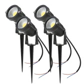 Tomshine 5W 4 Pack COB LED Lawn Lamp AC/DC 12V Outdoor Decorative Landscape light 500LM Super Bright High Power Spotlight for Garden Wall Yard Path White