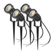 Tomshine 5W 4 Pack COB LED Lawn Lamp AC/DC 12V Outdoor Decorative Landscape light 500LM Super Bright High Power Spotlight for Garden Wall Yard Path Warm White