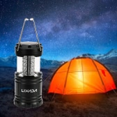 Lixada 30 LEDs Outdoor Collapsible Camping Tent Lantern Emergency Lamp Portable Light Flashlight  Battery Operated (AA Not Included ) for Hiking Fishing Outages Hurricanes Super Bright White