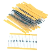 600PCS 30 Types 1 / 4W 20Ω-1M 1% Resistance Tolerance Metal Film Resistor Set Assorted Kit