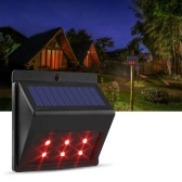 Solar Powered Red LED Predator Deterrent Lights Nocturnal Pest Animal Repellent Scares Farm Garden Pasture Orchard Corral Chicken Coop Guard Light