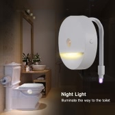IP67 Water Resistant A++ Power Saving RGB 8 Colors LED Flexible Toilet Seat Lamp with Warm White Night Light Function Photosensitive Sensor Motion Activated for Bathroom Bowl