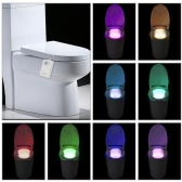Tomshine 16 Colors LED Dimmable Flexible Toilet Seat Night Lamp Motion Activated Sensitive Bathroom Bowl Light