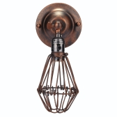 Classical Personality Vintage Retro Antique Cage Flower Shaped Adjustable Hanging Lamp Base Pendant Light for E27 Bulb Hotel Bar Room Decoration