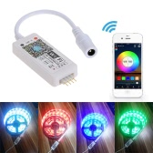 Tomshine DC5-28V Mini RGB Wifi Smart Controller Dimmer Output 3 Channels Working for Android / IOS Mobile Phone Free App16 Million Colors 20 Dynamic Modes Support Sound Activated Static Color Changing for LED Strip Light