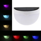 0.2W RGB Solar Powered Outdoor Wall Lamp Light Control Decorative LED Colorful Light Battery Included Support Static Color Changing for Patio Garden Yard Pathways Entrance