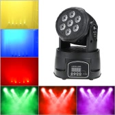 70W 7 LEDs RGBW 4 in 1 LED Stage Effect Beam Wash Lightig Moving Head Light DMX512 8/13 Channel for DJ Club Disco Stage Party Lighting