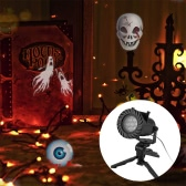 Remote-Controlled Projector Lamp Indoor Outdoor Waterproof Durable Celebration Decorative Light 12 Slides Changeable Automatically LED Moving Spotlight Lamp