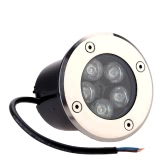 5W LED Outdoor Ground Garden Path Floor Underground Buried Yard Lamp Spot Landscape Light IP67 Waterproof AC 85-265V
