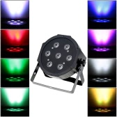 Lixada DMX-512 4 In 1 RGBW LED Stage PAR Light Lighting Strobe Professional 5/8 Channel Party Disco Show 70W AC 100-240V Sound Active