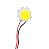 7W 21-23V DC LED Round COB Chip Light Lamp Bulb with Wire High Power High Bright Warm/Nature White