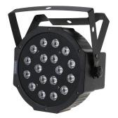 Lixada Mini 25W DC12V DMX-512 18 LED RGB Stage Par Light Flash Strobe  Party Disco DJ KTV with Sound Control