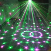 Lixada DMX-512 7 Channels LED Rotating Strobe RGBPYW Crystal Magic Ball Effect Par Light Disco DJ Stage