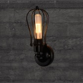 Lixada Vintage Retro Cases Lamp Light E27 Country Wall Sconce Mounted Bedroom Loft Living Room Hotel Hall