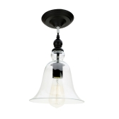 Lixada Vintage Retro Pendant Lamp Light E27 Bulb Loft Antique for Parlor Hotel Bedroom with 1.2m Wire Bell Shape