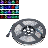 LED RGB Strip Light SMD 5050 Flexible Light IP65 60LEDs/m 5m/lot with 44key RF Remote and 12V 5A Adapter for Bar Hotel Restaurant