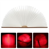 Lixada LED Rechargeable Folding Book Light 4.5W 500LM Battery-Operated Changeable Shape Table Floor Ceiling Bedside Lamp Practical and Beautiful Lighting Fixture Indoor Use Red