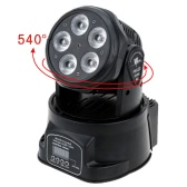 75W 5 LED DMX512 Sound Control Auto Rotating 10 / 15 Channels Colors Changing Head Moving Light Stage Wash Lamp for Disco KTV Club Party