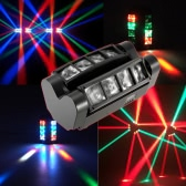 90W RGBW 6 / 12 Channels LED DMX512 Sound Activated Auto Running Mini Spider Stage Beam Light Head Moving Rotatable Effect Lamp with Signal Line for Disco KTV Club Party
