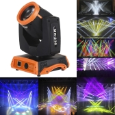 230W RGBW 16 Channel DMX512 Rotating Head Moving Stage Effect Light LED Gobo Pattern Prism Lamp for Indoor Disco KTV Club Party
