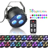 Tomshine 15W 3 LEDs 8 Channels RGBP 4-in-1 Wash Effect Stage Par Light Support DMX512 Master-slave Sound-activated Auto Mode with Remote Controller  for Indoor Disco KTV Club Party  Pub Bar Banquet Wedding